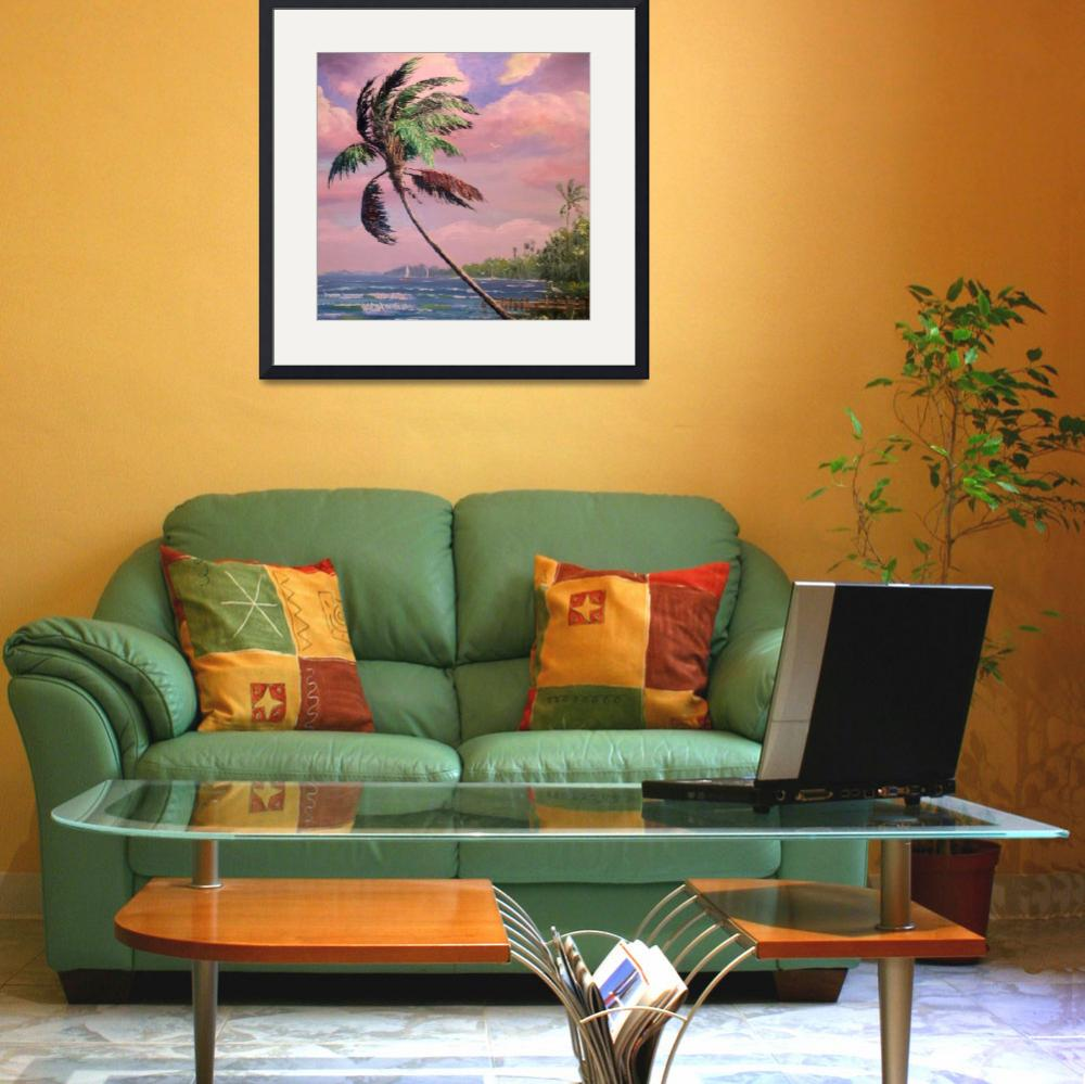"""Tropical Vacation Palm Tree&quot  (2007) by mazz"