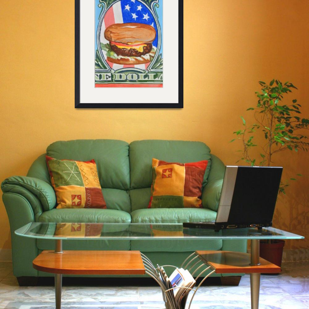 """A Patriot Burger&quot  (2011) by claudebuckleyfineart"