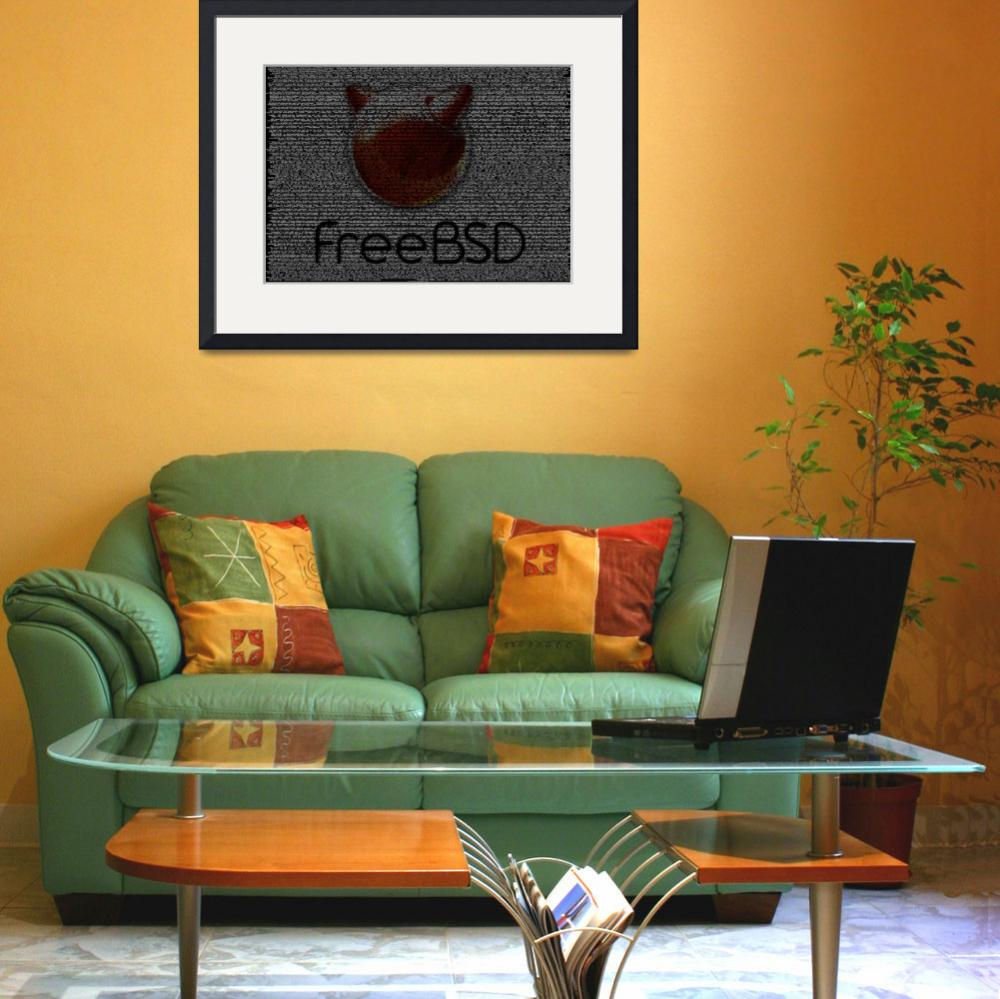 """FreeBSD Poster from Source Code&quot  (2010) by 0xfe"