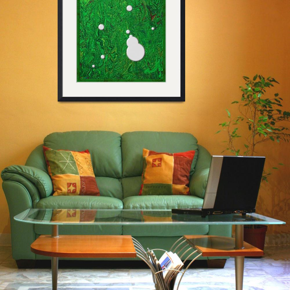"""20110204-White-Paint-Splatters-on-Green-v005a&quot  (2011) by quasihedron"