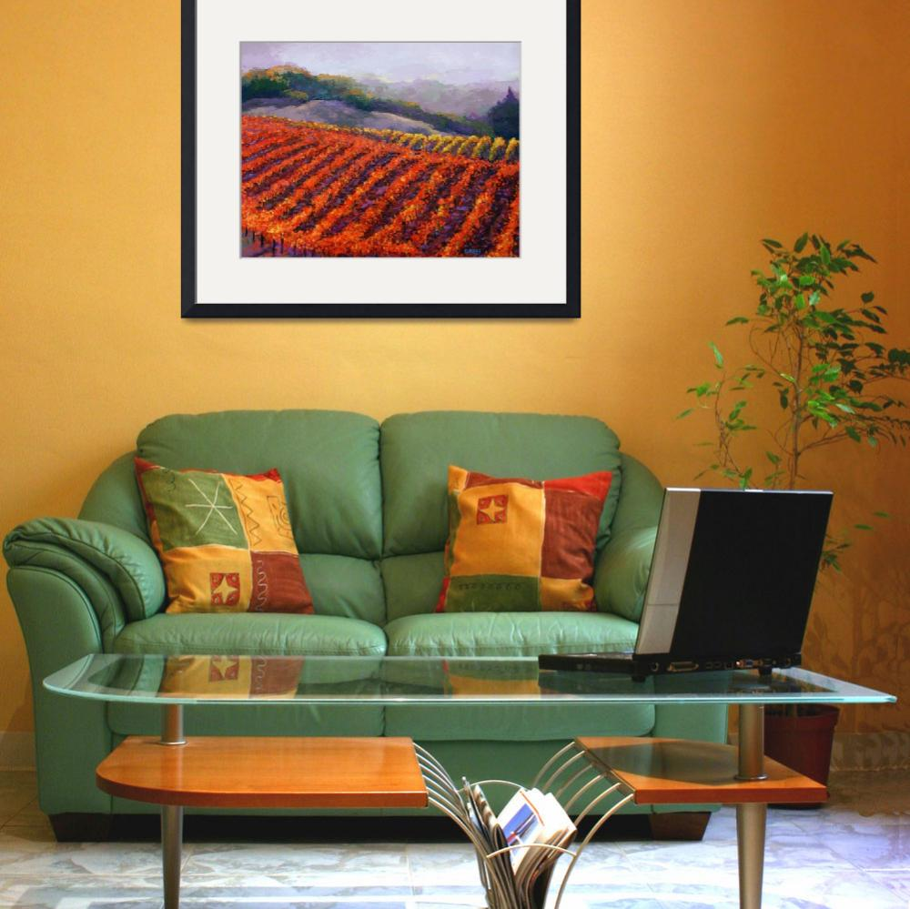 """Sonoma Vineyard&quot  (2011) by BCArt"