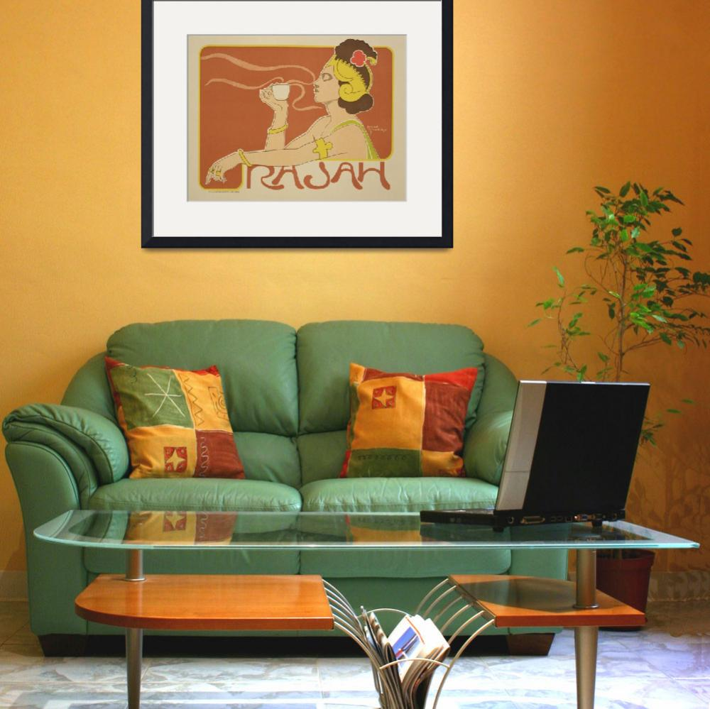 """Cafe Rajah Vintage Poster Advertisement&quot  by fineartmasters"