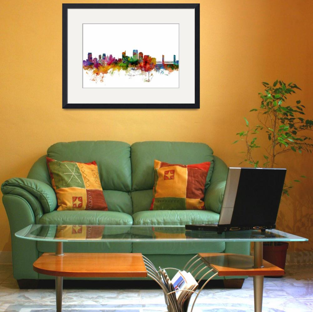"""Sacramento California Skyline&quot  (2014) by ModernArtPrints"