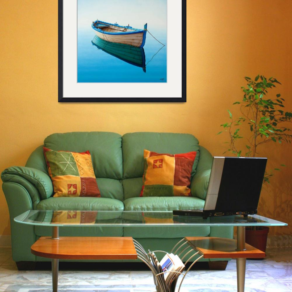 """boat in a Tranquil Bay&quot  (2008) by Horacio-Cardozo"