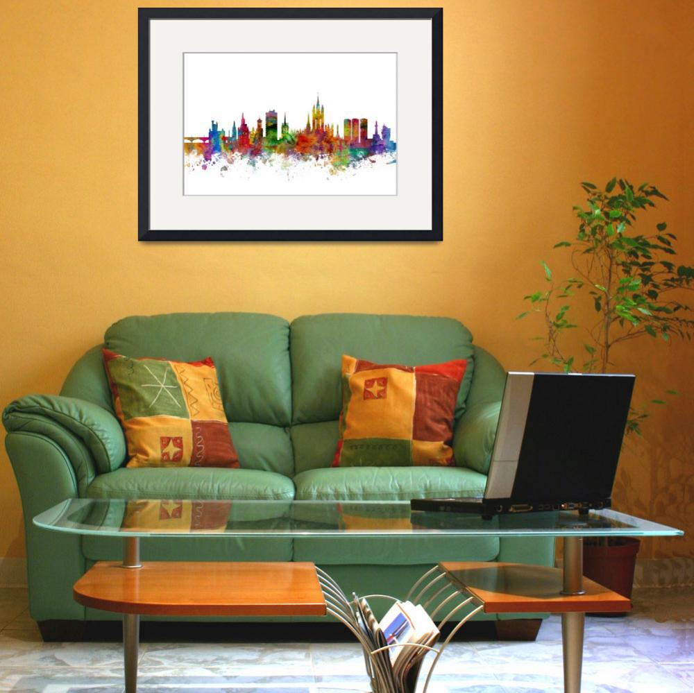 """Aberdeen Scotland Skyline&quot  (2014) by ModernArtPrints"