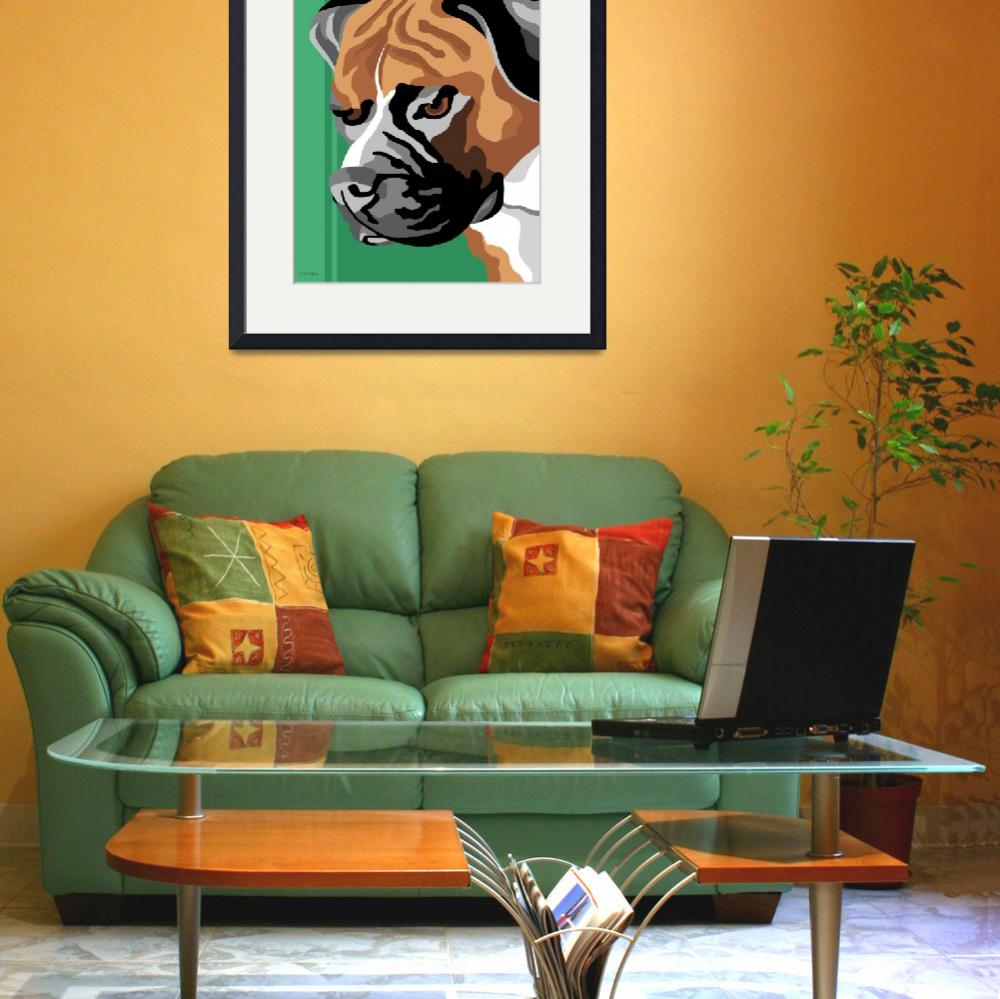 """Boxer Dog&quot  (2011) by waterart"