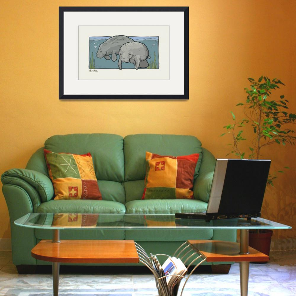 """Florida Critter: Manatee&quot  (2009) by houseboatstudio"