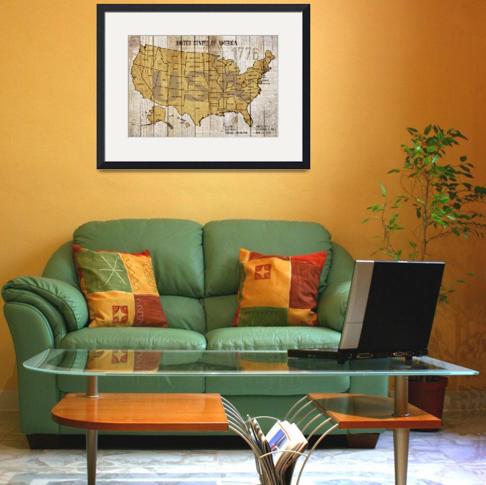"""ORL-2895-MAP OF USA&quot  by Aneri"