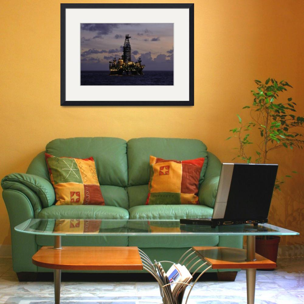 """Offshore oil rig with&quot  (2009) by Landbysea"