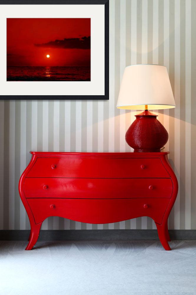 """Red Sunset&quot  (2011) by artstoreroom"