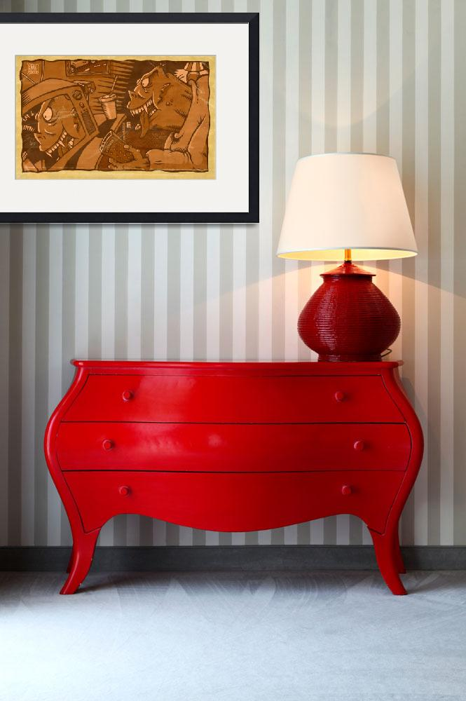 """Tv Monster&quot  (2009) by MLaznicka"