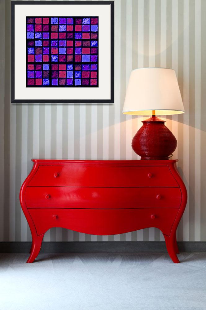 """Sudoku Abstract Red Purple&quot  (2012) by KsWorldArt"