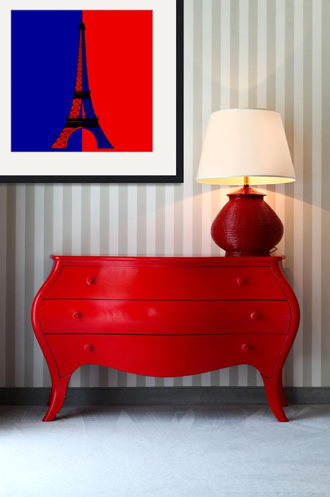 """Inspired by the Eiffel Tower and the Parisian Flag&quot  by Lonvig"