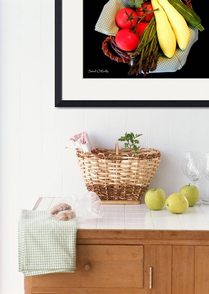 """Vegetable Basket&quot  (2010) by SandiOReilly"