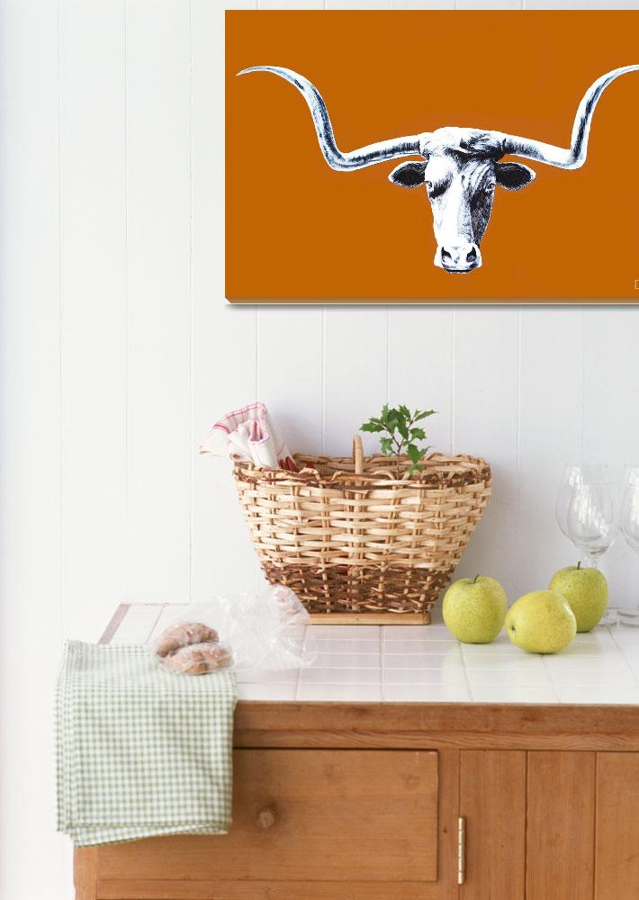 """Longhorn Poster&quot  by AnimalsbyDiDi"
