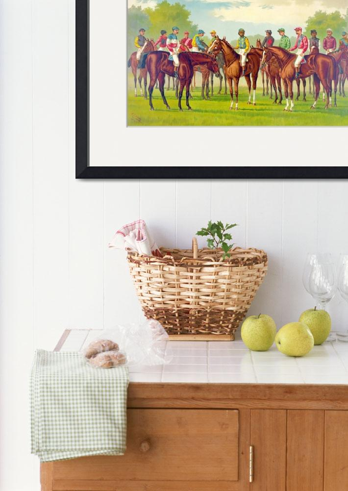 """CELEBRATED JOCKEYS&quot  by homegear"