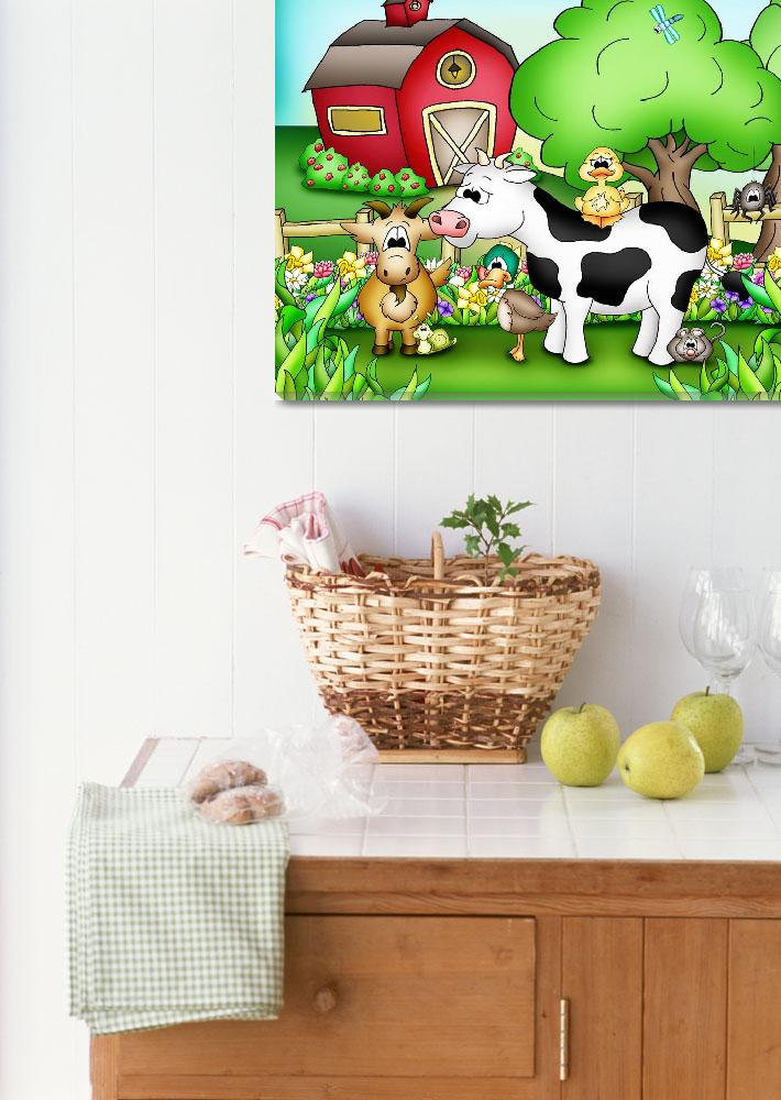 """Farm Animals with Cow&quot  (2010) by just4mebooks"
