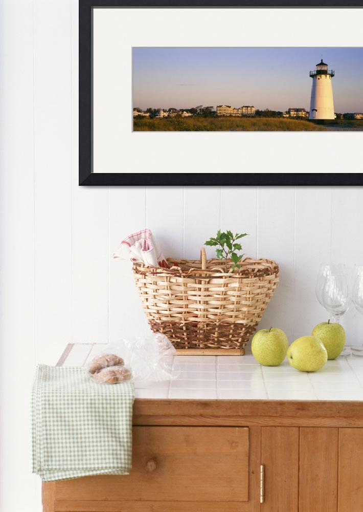 """Edgartown Lighthouse Marthas Vineyard MA&quot  by Panoramic_Images"