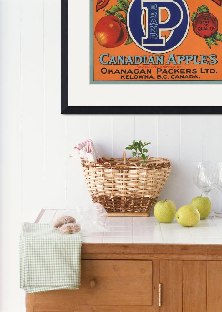 """British Empire Fruit Crate Label&quot  by LABELSTONE"