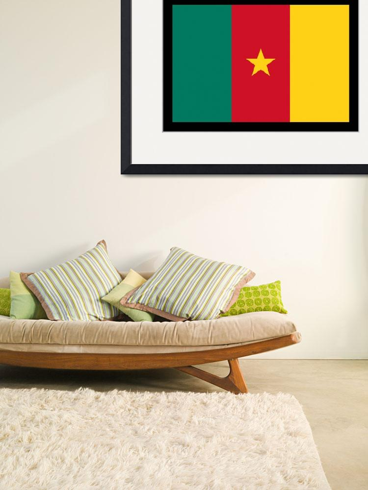 """Cameroon Flag&quot  (2014) by KWGart"