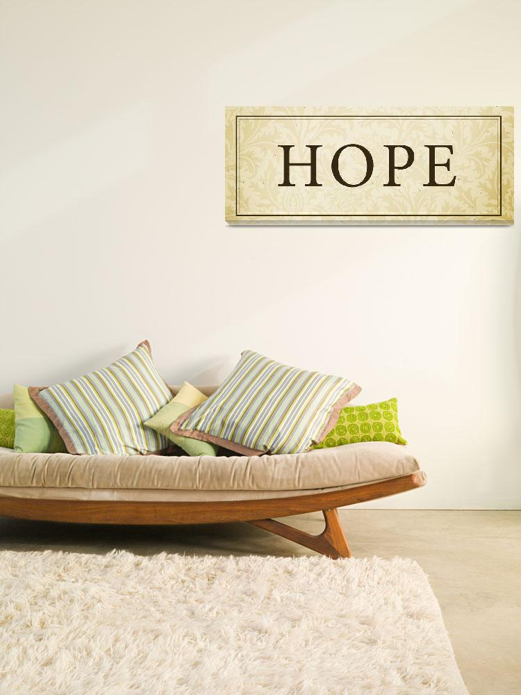 """Hope Sign/Plaque&quot  (2008) by dallasdrotz"