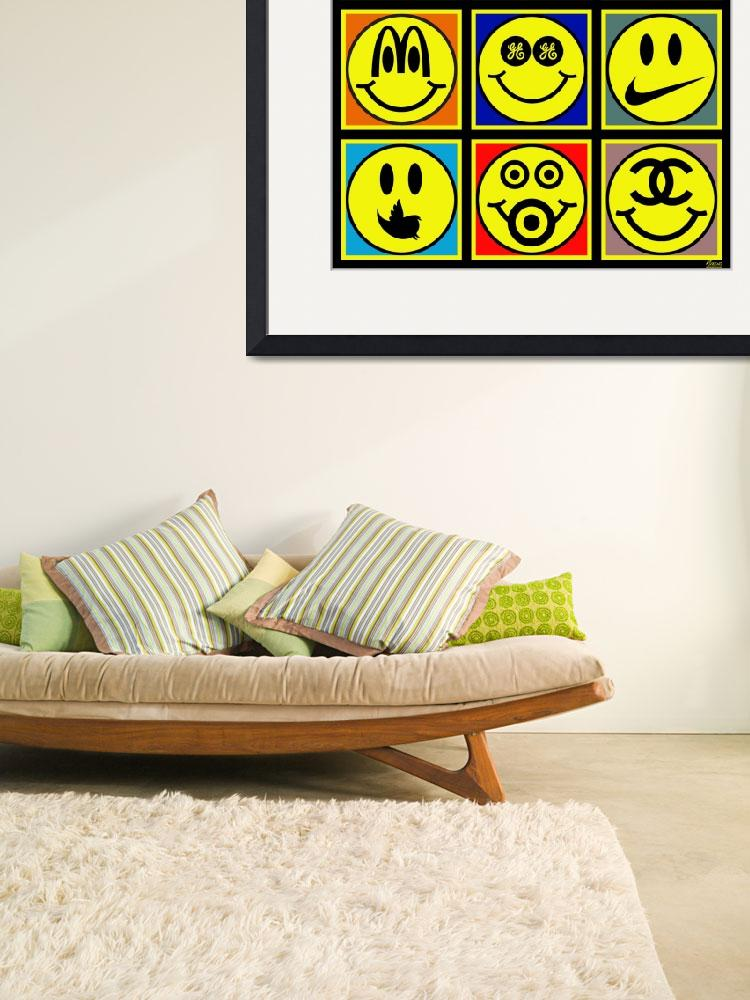 """Happy Logos&quot  (2013) by RubinoFineArt"