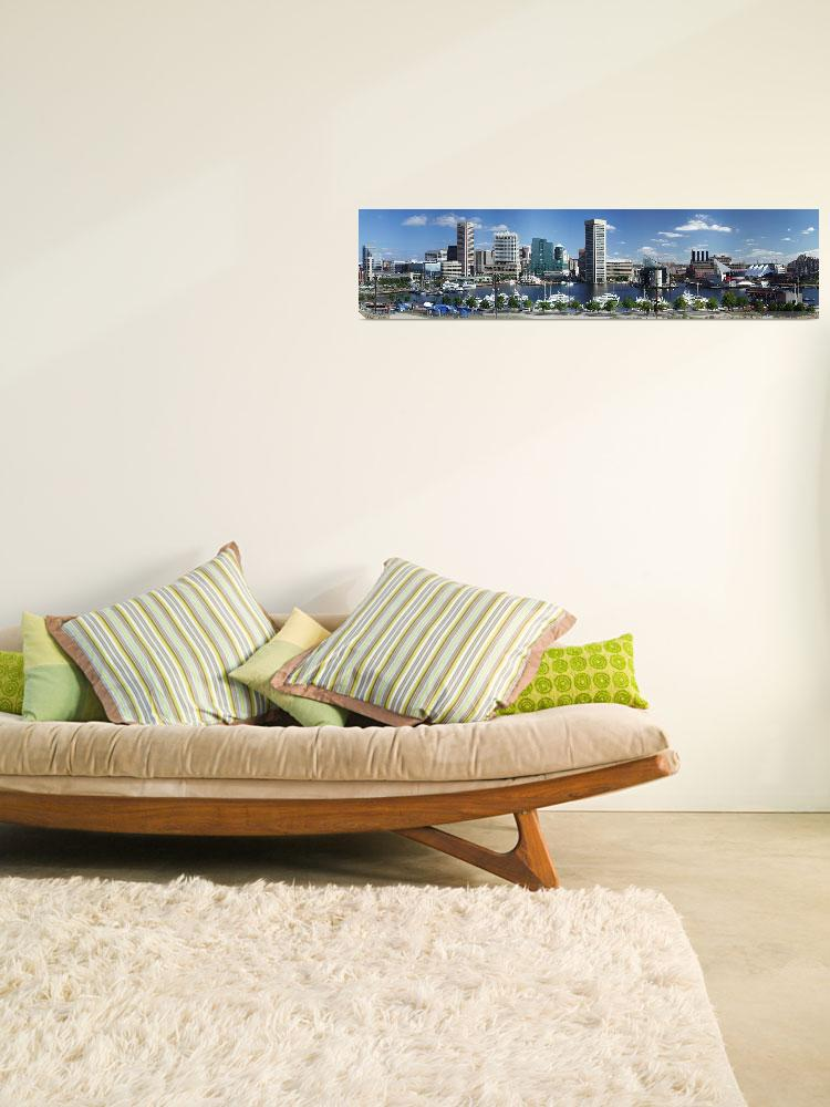 """Baltimore Inner Harbor Panorama Picture&quot  (2005) by travel"