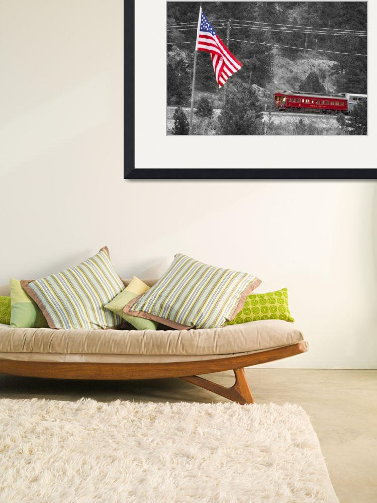 """Cyrus K. Holliday Rail Car and USA Flag BWSC&quot  (2013) by lightningman"