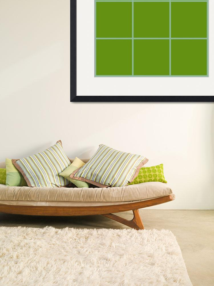 """Green Window 031 Canvas Contemporary Modern&quot  (2010) by Ricardos"