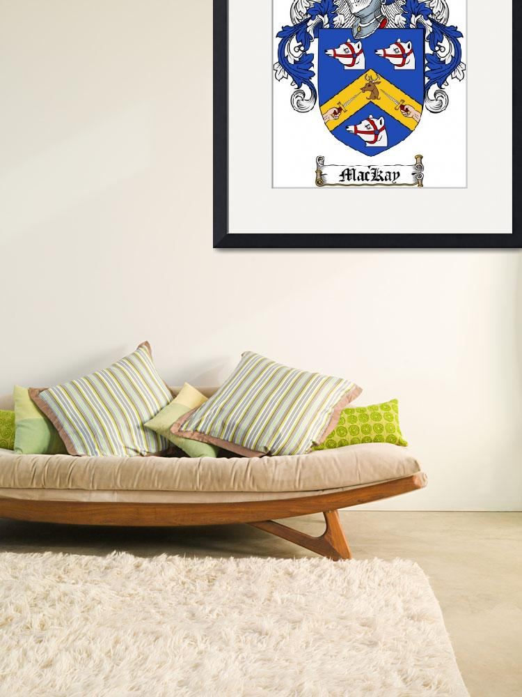 """MACKAY FAMILY CREST - COAT OF ARMS&quot  by coatofarms"