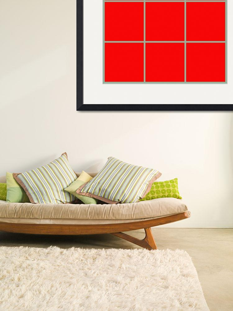 """Red Window 099 Canvas Contemporary Modern&quot  (2010) by Ricardos"