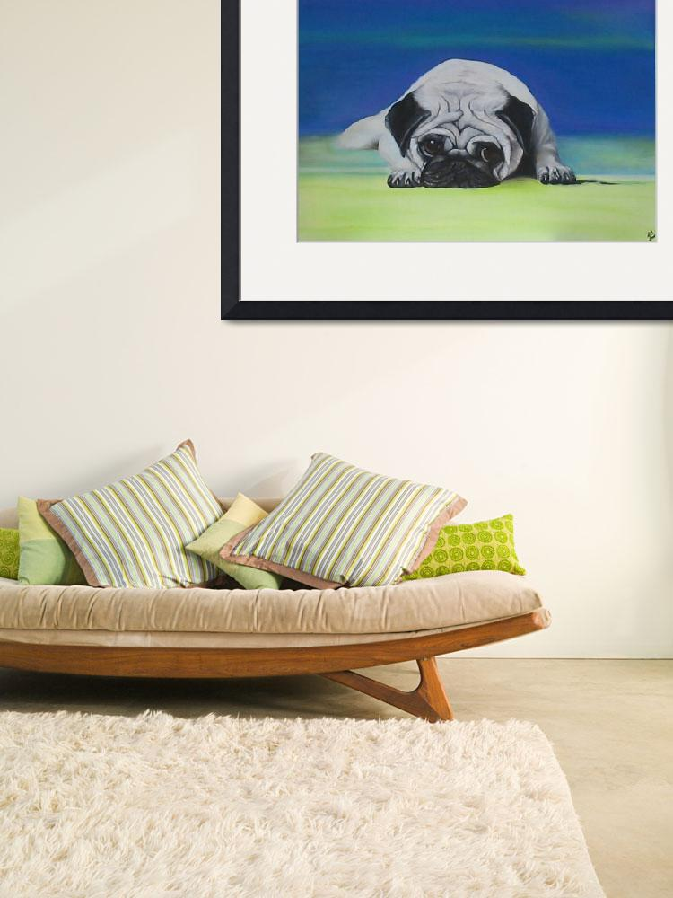 """Pug Dog&quot  (2006) by ArtPrints"