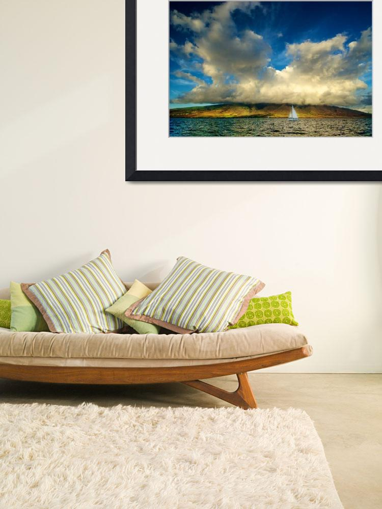 """Maui Sailboat Cloudscape&quot  (2010) by PadgettGallery"