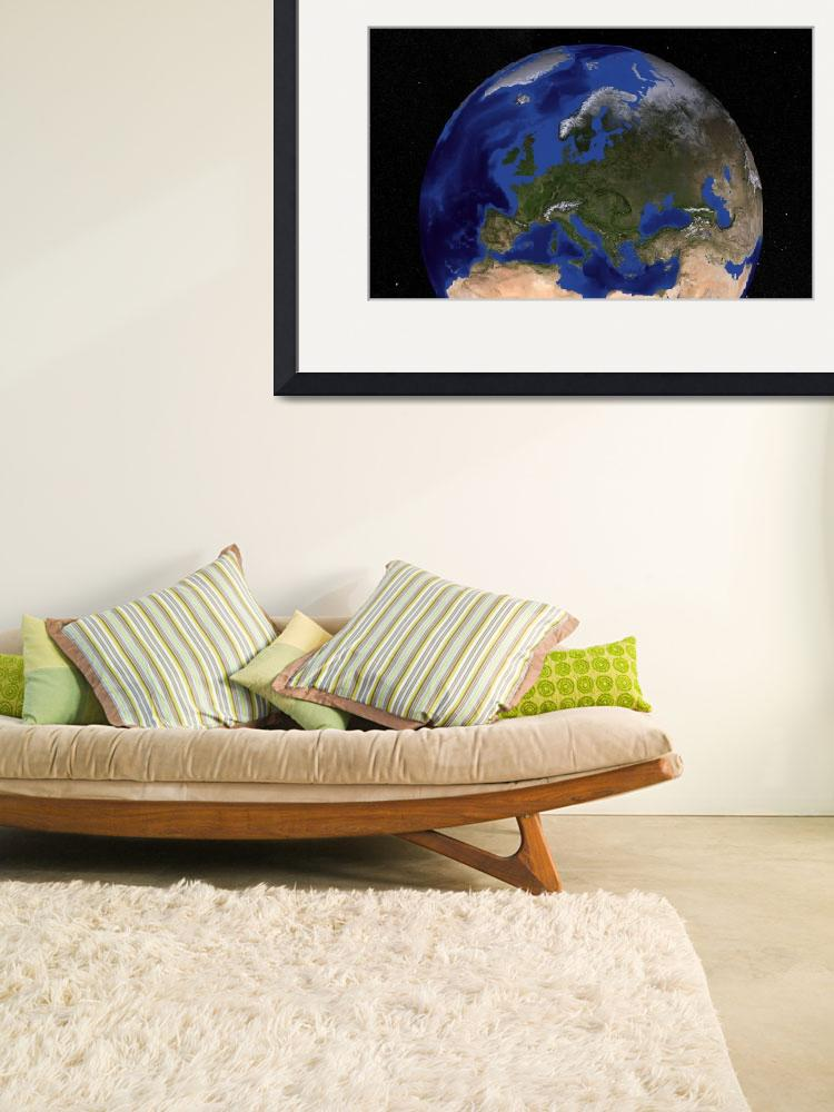 """Earth showing Europe.&quot  by stocktrekimages"