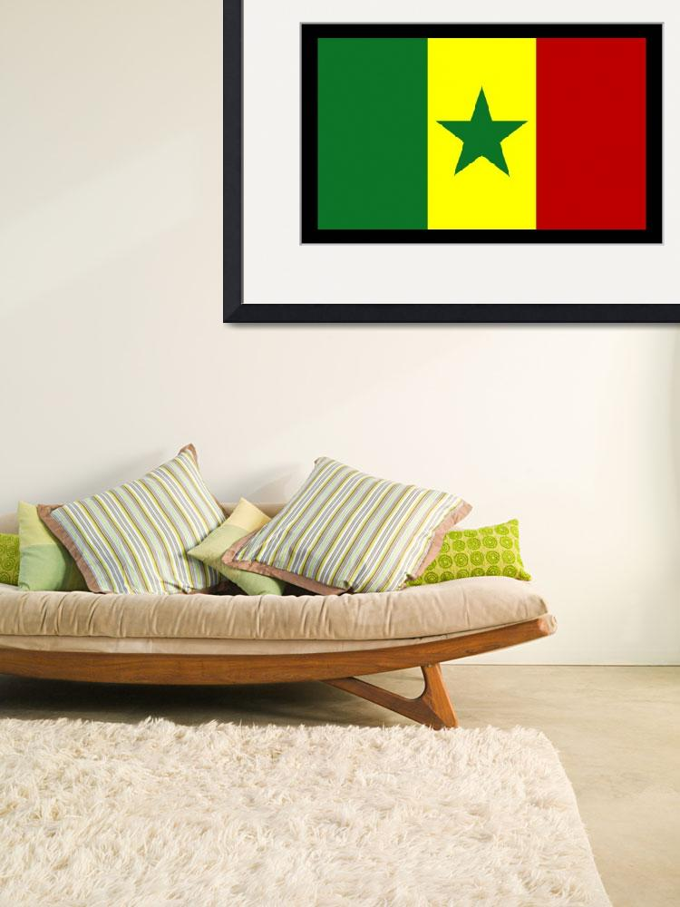 """Senegal Flag&quot  by KWGart"