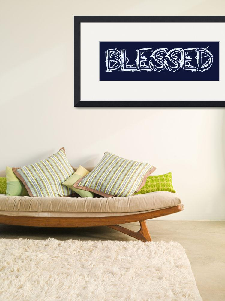 """blessed grunge outline blue&quot  by lizmix"