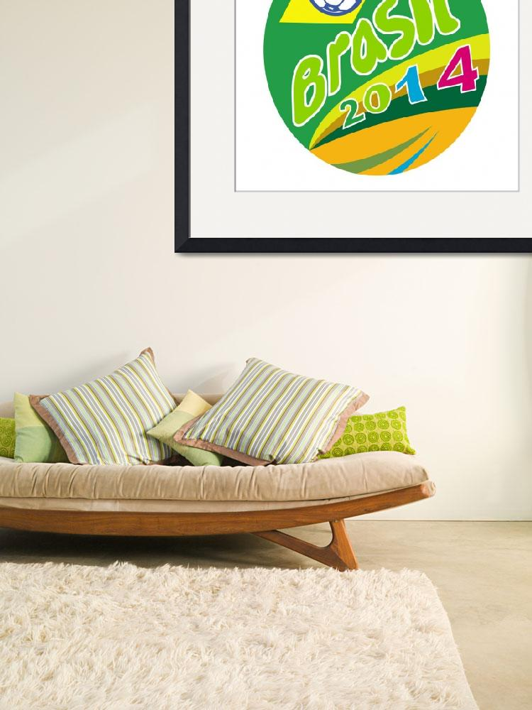"""Brasil 2014 Soccer Football Ball Oval&quot  (2014) by patrimonio"