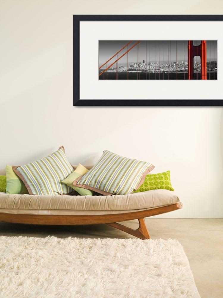 """Golden Gate Bridge – Panoramic Downtown View&quot  (2014) by MelanieViola"