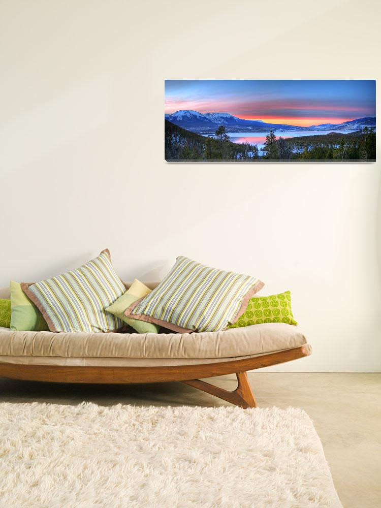 """Lake Dillon East Sunset Pano&quot  by scingram"