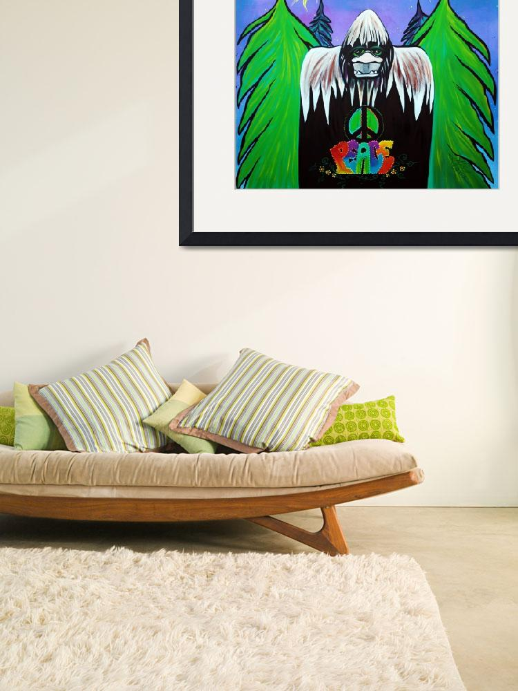 """Bigfoot Peace&quot  (2015) by ArtPrints"