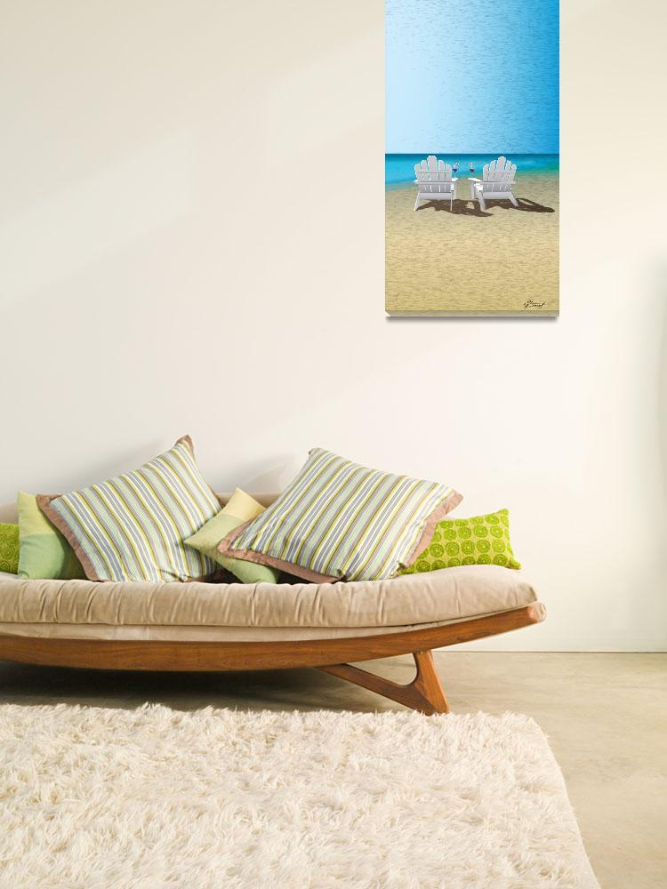 """Venus Winter Beach Chairs&quot  (2010) by Art_By_Design_Studio"