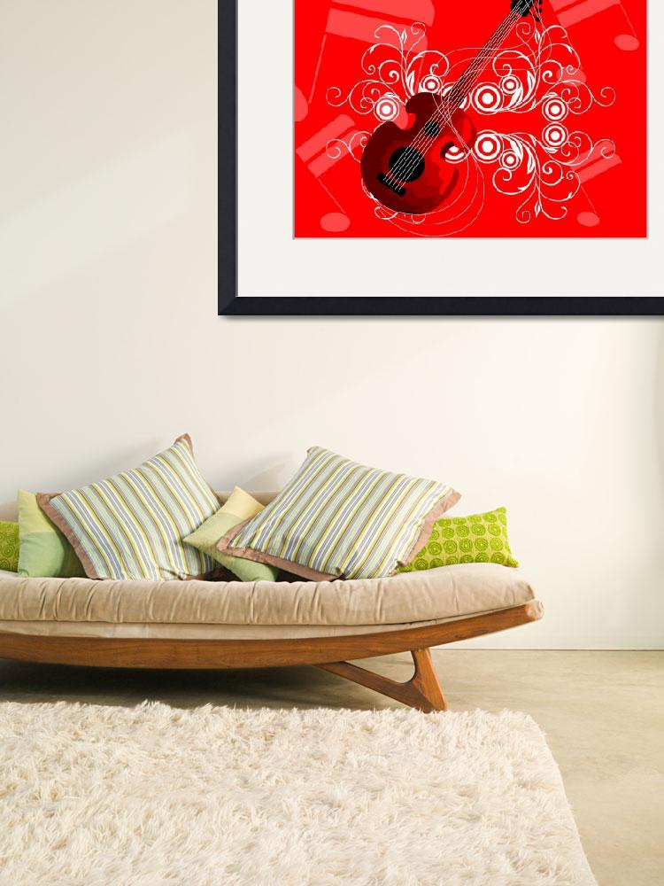 """Floral guitar&quot  (2009) by digitalpainting"