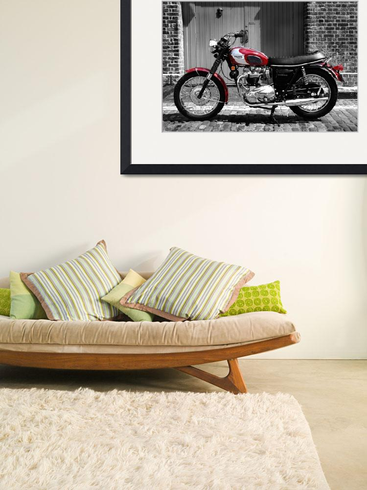 """Triumph Bonneville 1970&quot  (2012) by mark-rogan"