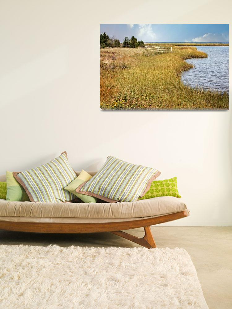"""Colorful Edgartown Marsh&quot  (2010) by Groecar"