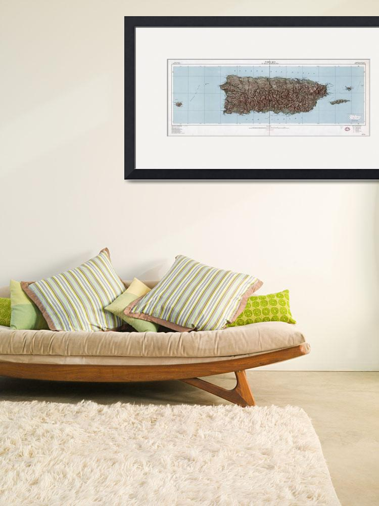 """Vintage Map of Puerto Rico (1952)&quot  by Alleycatshirts"