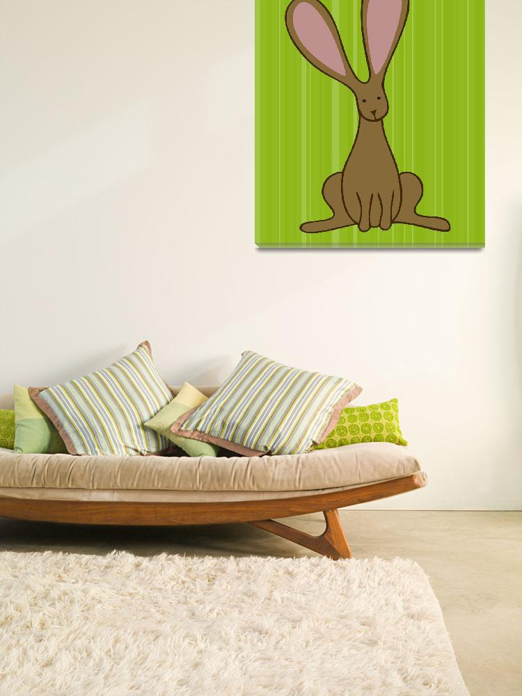"""Bunny Nursery Art&quot  (2012) by ChristyBeckwith"
