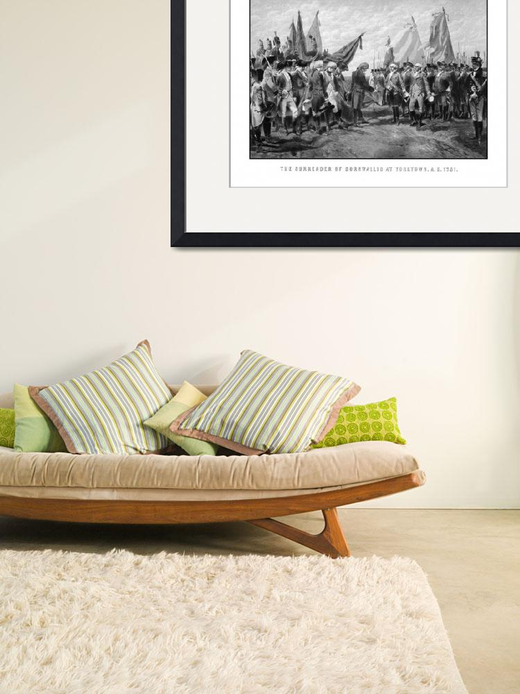 """Vintage Revolutionary War print showing the surren&quot  by stocktrekimages"