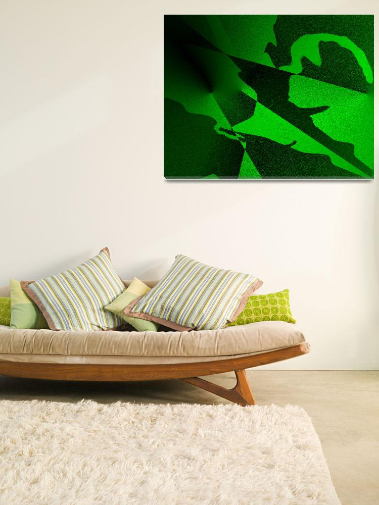 """Colors Green and Black Abstract&quot  by kphotos"