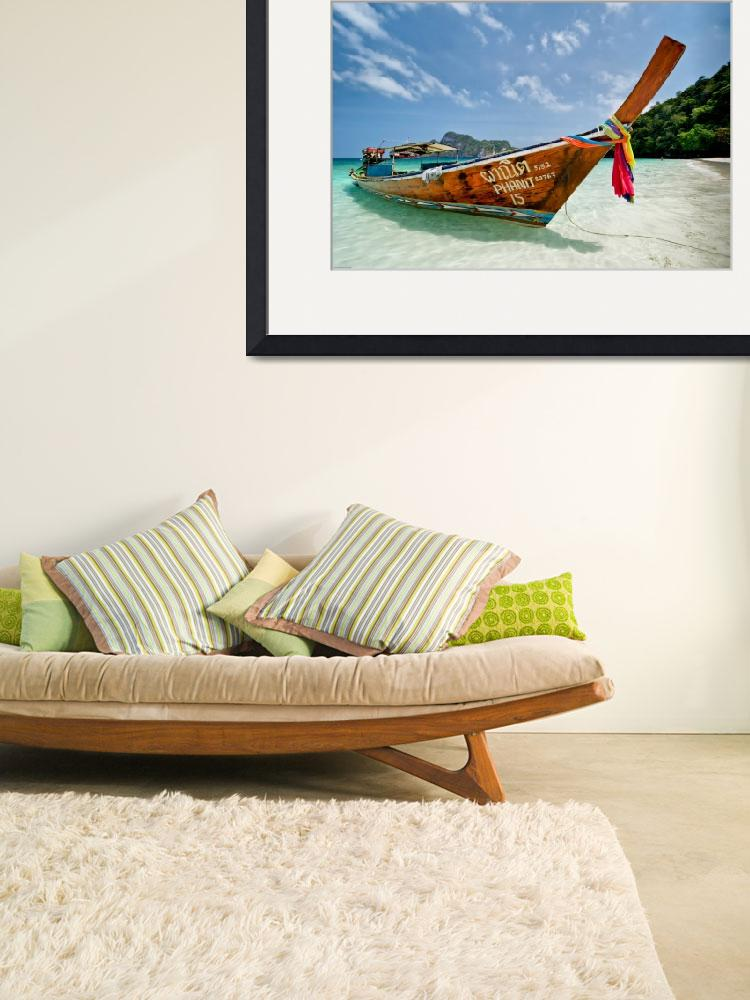 """Traditonal Thai Long Tail Boat&quot  (2009) by souvikb"