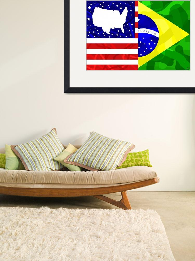 """U.S and Brazil Mix&quot  (2010) by ADDesigns"